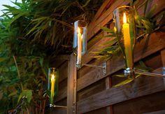 Flaschenfakel zum selbermachen. So ist ein gemütlicher Grillabend im Sommer garantiert. #OBI #Rat #DIY