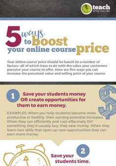 5 Ways To Increase The Price of Your Online Course