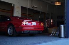 The Ferrari in the Garage 77 in Los Angeles Ferrari, Garage, Cars, Carport Garage, Autos, Garages, Car, Automobile, Car Garage