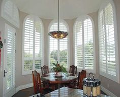 Plantation shutters. I want these to cover the largest windows in the front of my house!