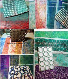 PaperOcotilloStudio -- Addicted to Gelli® printing!