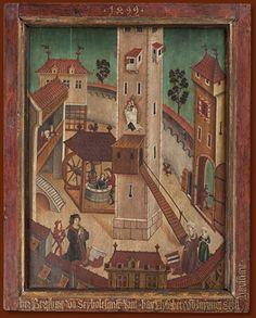 Votivtafel des Bernhard von Seyboltsdorf datiert 1499 Foto: Stadtmuseum Schärding