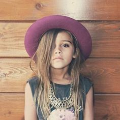This fabulous little one who's wearing the hell out of that statement necklace. | 19 Hipster Kids Who Are So Cool It Hurts