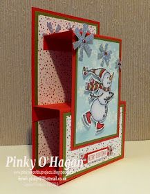 Best 11 Pinky's World Stampin' Projects: Shelf shape Christmas card – SkillOfKing. 3d Christmas, Homemade Christmas Cards, Christmas Cards To Make, Xmas Cards, Handmade Christmas, Holiday Cards, Christmas Ideas, Christmas Cactus, Christmas Movies