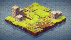 ArtStation - Isometric Tile Bundle, Golden Skull