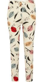Sonia Rykiel Printed cotton-blend crepe straight-leg pants
