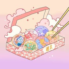Look Wallpaper, Cute Pastel Wallpaper, Kawaii Wallpaper, Arte Do Kawaii, Kawaii Art, Kawaii Anime, Kawaii Illustration, Japon Illustration, Cute Food Drawings