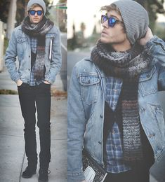 Appropriate Bundling (by Adam Gallagher) Indie Fashion, Look Fashion, Winter Fashion, Zara Boots, Hollywood Fashion, Street Wear, Menswear, Hoodie, Stylish