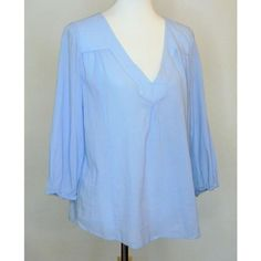 2b9934e8f242 Joie Blue Gauze Blouse Size 10 (M). Free shipping and guaranteed  authenticity on. Tradesy