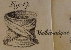 """Cravate Mathématique H. le Blanc, Esq.: """"L'Art de mettre sa cravate"""" (1827)"""