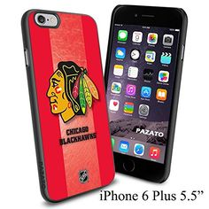 """NHL CHICAGO BLACKHAWKS , Cool iPhone 6 Plus (6+ , 5.5"""") Smartphone Case Cover Collector iphone TPU Rubber Case Black Phoneaholic http://www.amazon.com/dp/B00VXEWDQG/ref=cm_sw_r_pi_dp_wNJnvb19AT599"""