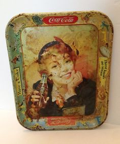 1905 Tin Plate Coca Cola Nude