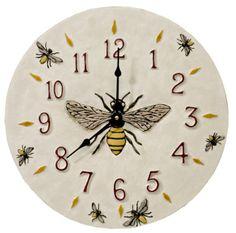 BEE~Honeybee Ceramic Art Wall clock