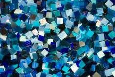 BLUE MIX stained glass mosaic tiles
