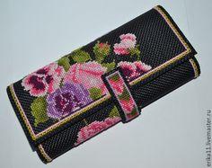 Купить кошелек букет цветов Продан - кремовый, цветочный, кошелек, кошелек ручной работы