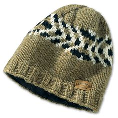 www.Filson.com | Remarkably warm and comfortable, just wearing this superb knit hat will lift your spirit. Our Cowichan hats are hand-knit of heavy, water resistant natural wool to serve you for a lifetime.