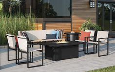 Tuxedo Aluminum + Sling Outdoor Sofa & Lounge Chair Collection
