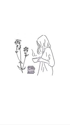 Ideas Flowers Sketch Outline Drawings For 2019 Outline Drawings, Easy Drawings, Pencil Drawings, Tattoo Outline Drawing, Outline Art, Doodle Drawings, Art Du Croquis, Geometric Tatto, Aesthetic Art