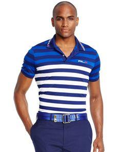 Slim-Fit Striped Polo Shirt - RLX Golf Active & Golf - RalphLauren.com