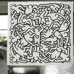 Keith Haring Shower Curtain, $60