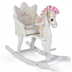 Knorr-Baby Schaukeltier Schaukelpferd Prinzessin Pony weiß/pink TOP | eBay
