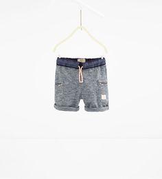 Image 1 of Double waist Bermuda shorts from Zara