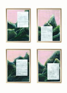 """LAST DAY OF ETSY DISCOUNT: 10% when buying more than 1 items from my shop. For instance these """"Mountains Without A View""""  USE CODE: MORERUGS10. Ends today 31st of May"""
