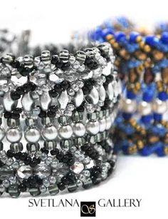 Nortia II Bracelet Beading Pattern Tutorial #svetlanagallery #beading #bead #patterns #tutorials #bracelet #beads #crafts #handmade #beadweaving #beadwork