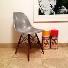 via Instagram Tom Johnson   Krink x Modernica   http://modernica.net/fiberglass-shell-chairs/krink-fiberglass-silver/