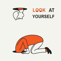 Abstract illustration of man kneel down and looking at a hole to look after something but find himself, concept of look at yourself. Man Illustration, Graphic Design Illustration, Cool Art Drawings, Illustrations And Posters, Minimalist Art, Free Vector Art, Line Art, How To Draw Hands, Abstract