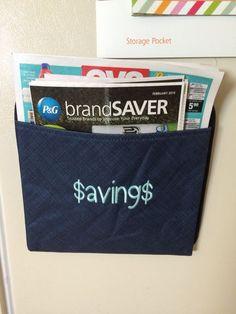 Coupon savings organizer! Oh-Snap Pocket