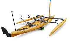 Accessories & mounts for Hobie Tandem Island kayak with RAILBLAZA (+playlist...)