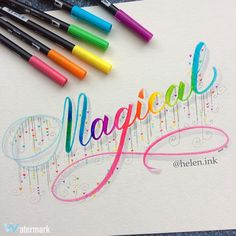 Blended tombow text, micron 03 pens for details