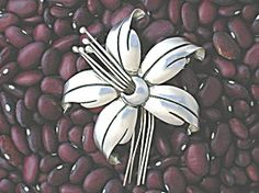 Maricela Sterling Silver Tasco mexico Flower Brooch