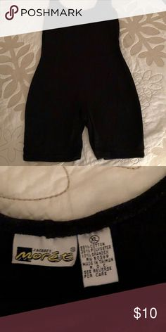One piece spandex workout shorts Black spandex workout piece Other