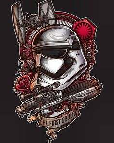 Star Wars: First Order Stormtrooper Art Star Wars Film, Star Wars Art, Star Trek, Geniale Tattoos, Star Wars Tattoo, Star War 3, First Order, Cultura Pop, Rogues