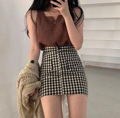 Korean Girl Fashion, Korean Fashion Trends, Asian Fashion, Look Fashion, Ulzzang Fashion Summer, Curvy Fashion, Modest Fashion, Fashion Bloggers, Fall Fashion