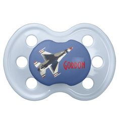 USAF Thunderbird Squadron America Baby Pacifiers $10.53 America's Ambassadors in Blue. America illustrated in the Red White and Blue of our flag. F-16 Jets training out of Nellis AFB in Las Vegas, Nevada. The F-16 Fighting Falcon is a compact, multi-role fighter aircraft. It is highly maneuverable and has proven itself in air-to-air combat and air-to-surface attack. It provides a relatively low-cost, high-performance weapon system for the United States and allied nations. Read more at…