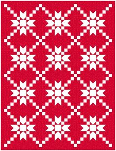 Sew Fresh Quilts: Let's Bee Social Quilt Square Patterns, Quilt Block Patterns, Square Quilt, Quilt Blocks, Star Blocks, Patchwork Patterns, Sewing Patterns, Two Color Quilts, Blue Quilts