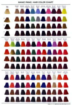 Manic Panic Hair Colors/ also a good post/ chart to see how a color might turn out on your current color