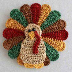 Turkey Crochet Patterns...cute for  pot holders