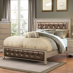 Just want to order Almerton Upholstered Panel Bed by Willa Arlo Interiors Rustic Living Room Furniture, Bedroom Furniture Sets, Bedroom Decor, Master Bedroom, Bedroom Ideas, Always Kiss Me Goodnight, Rivage, Kids Bedroom Sets, Panel Bed