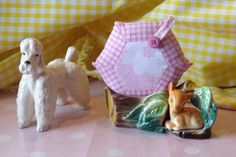 Gingham Patchwork Pin or Brooch Cushion - Pale Pink Retro £4.00