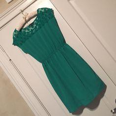 Nordstrom Soprano Brand S Green Dress Soprano brand from Nordstrom in size small. Green dress with lace polka dots at top of neckline. Soprano Dresses