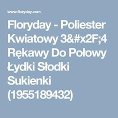 Floryday - Poliester Kwiatowy 3/4 Rękawy Do Połowy Łydki Słodki Sukienki (1955189432)