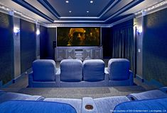 It may be blue, but you won't be feeling the blues in here! #hometheater