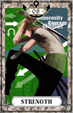 "☆ One Piece Tarot Card Art: Strength :¦: By Artist ""Igarashi"" ☆"