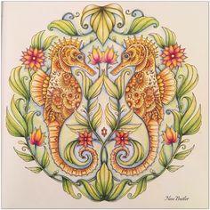 Lost ocean/Johanna Basford/ I used Faber Castell Polychromos pencils