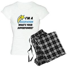 Cafepress Personalized What's Your Super Power Your Occupation Women's Light Pajamas, Size: Medium