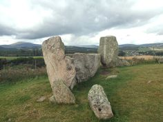 scotland stone circles | the recumbent and flankers looking northwest. The two smaller stones ...